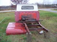 1/2 ton frame, 3/4 ton rear end, front bumper, good