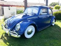 1963 VW BUG 1600 DUAL PORT ENGINE 12 VOLT ALL