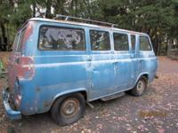 63 Ford van needs to be restored. Has new tires. The