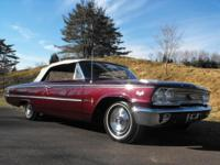 This 1963 Galaxie 500 XL Convertible is a very nice car