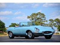 This 1963 Jaguar E-Type Convertible . It is equipped