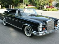 1963 Mercedes-Benz 200-Series Cabriolet. One of only