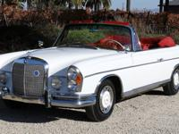 Rare 1963 Mercedes Benz 220se Cabriolet in beautiful