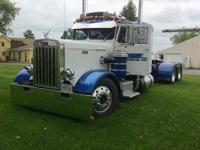 1963 PETERBILT 281 48 inch flat top sleeper, Cummins