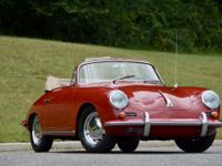 1963 Porsche 356 C Cabriolet finished in Ruby Red with
