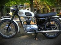 1963 Triumph Bonneville847 Original Miles!Available the