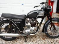 "1963 Triumph 6T Thunderbird ""Bathtub"". Originally a"