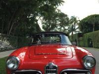 1964 Alfa Romeo Giulia 1600 Spyder. Red with High Grade