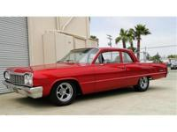 1964 CHEVROLET BISCAYNE 2 DR POST SEDAN 327cu DUAL