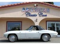 "1964 Corvette Sting Ray ""Roadster"" with beautiful white"