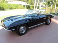 This is a 1964 Corvette Sting Ray Convertible in great