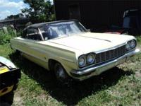 1964 Impala Convertible, car has good body, solid