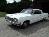 1964 Chevy Impala Convertible, car just had a new paint