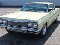 This 1964 Impala is a true 1447 Super Sport. The power
