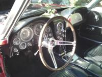 1964 Red Corvette convertible. Black Interior,