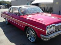 BEAUTIFUL RED 1964 CHEVY IMPALA, NEW MOTOR, RUNS GREAT,