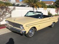1964 FORD FALCON FUTURA CONVERTIBLE V8, Automatic,