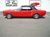 Stk#081 1964 1/2 Ford Mustang Exterior: Red paint BC/CC