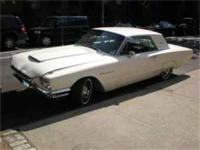 1964 white Thunderbird. 390 cb in engine. 78,000