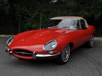 1964 JAGUAR E-Type Series I roadster convertible. It is
