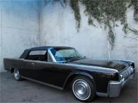 1964 Lincoln Continental Convertible Triple Black 1964
