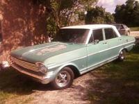 1963 Nova with a brand new 230 6cly. motor and 2 speed