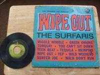 "For sale is a 1964 original 33 1/3 LP title: ""WIPE OUT"""