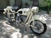 This is a 1964 BMW R50/2. The motor was entirely