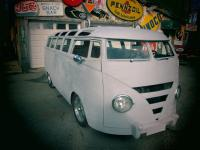 Here is a totally custom 21 wiondow vw bus all steel,