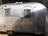 1965 Airstream Caravel. Predominantly White exterior