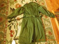 1965 Army Issued Overcoat with 100% wool removable