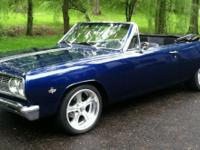 This beautiful blue Chevelle SS convertible is a true