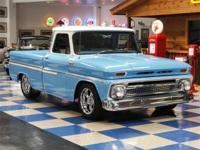 1965 Chevy C-10 Shortbox Custom painted in Sky Blue