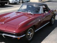 1965 Corvette StingRay This piece is Milano Maroon