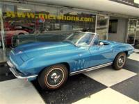1965 Corvette Convertible Nassau Blue with Blue
