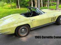 1965 Chevrolet Corvette Convertible Frame Off