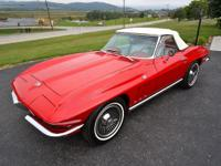 1965 Chevrolet Corvette  Red Convertible Beautiful