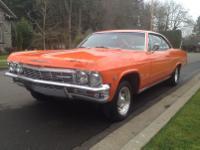 1965 Chevy Impala 2 door Hardtop Coupe Custom.  -Car