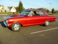 1965 Chevrolet Nova Automatic FLAME RED METALLIC. FLAME