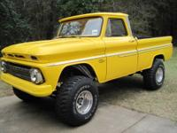 65 CHEVY SWB ON A 85 BLAZER 4X4 LIFTED,(NO