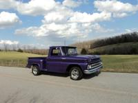 Sweet 65 Chevy pickup, SWB - Step Side Fresh Plum Crazy