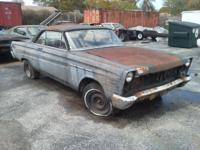 1965 Comet parts or task car. Was a factory V8. Make a