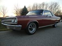 1965 DODGE CORONET CONVERTIBLE, VERY RARE ONE OF 818