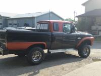 This is a totally customized 1965 Ford F100 pickup
