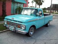 1965 Ford F100 for Sale, 350 V8, 4 barrel carburetor,