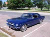 1965 Ford Mustang American Classic This is a dark blue
