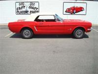 Stk#082 1965 Ford Mustang Convertible Exterior: Red