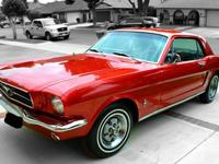 Parting with my 1965 candy apple red Mustang Coupe.