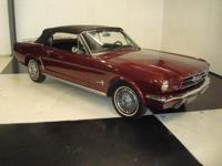 Stk#140 1965 Ford Mustang Convertible #'s Matching car