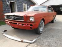 1965 MUSTANG COUPE. 6 CYL. ENGINE STARTS, RUNS, AND
